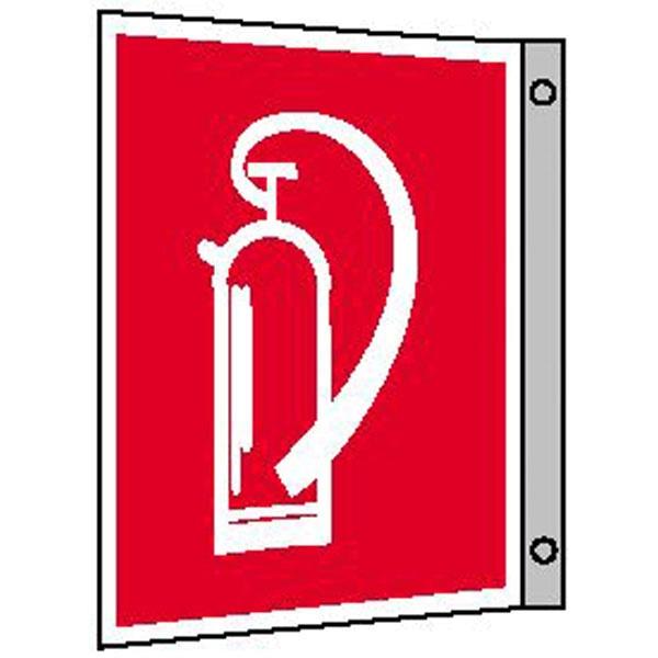 Brandschutzzeichen: Feuerlöscher | Aluminium | 20x20cm