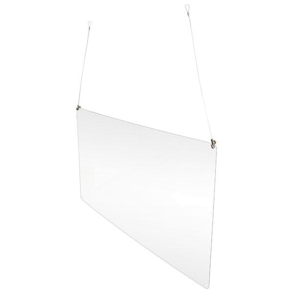 Acrylglas-Hygieneschutz zur Deckenabhängung