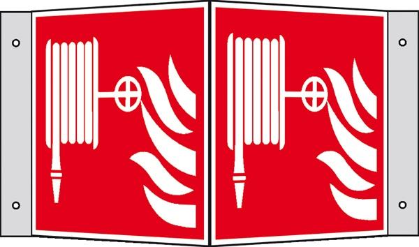 Brandschutzzeichen: Löschschlauch | Aluminium | 15x15cm