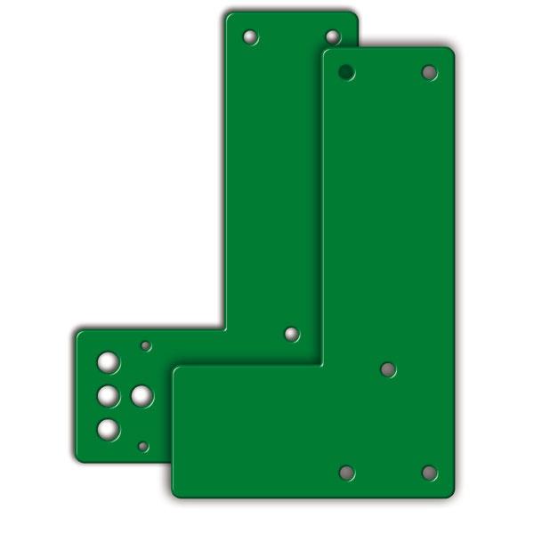 Montageplatte für Schwenk-Türwächter   kurz/normal   winkelform