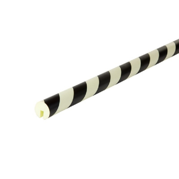 Knuffi SHG Warn- und Schutzprofil | Typ B | schwarz/weiß langnachleuchtend