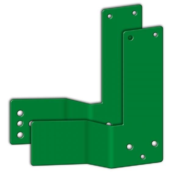 Gekröpfte Montageplatte für Einhand-Türwächter | Tiefe: 5 cm | DIN links