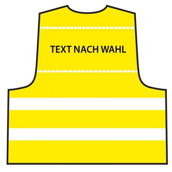 Warnweste Gelb - individuell bedruckt