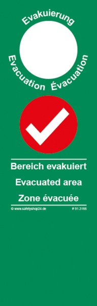 Türanhänger Evakuierung (lang) -Standard