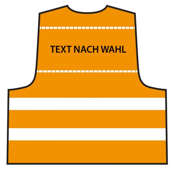 Warnweste - Orange | Text nach Wahl