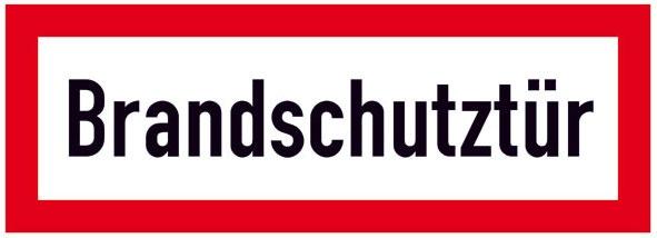 Hinweisschild für die Feuerwehr: Brandschutztür | Aluminium geprägt | 29,7x10,5cm