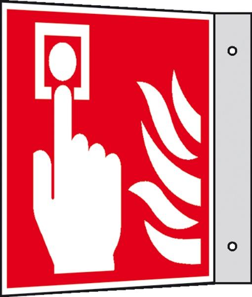 Brandschutzzeichen: Brandmelder | Aluminium | 15x15cm