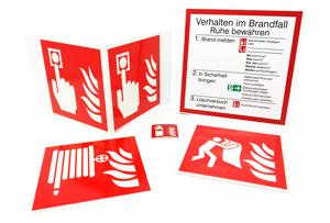 Materialien für Brandschutzschilder