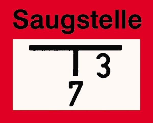 Hinweisschild für die Feuerwehr: Saugstelle zur Löschwasserentnahme | Aluminium geprägt | 25x20cm