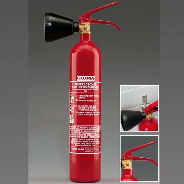 Gloria CO2-Feuerlöscher (KS 2 ST) | 2 kg | 2 LE