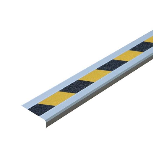 """Antirutsch-Treppenkantenprofil """"Universal""""   schraubbar   schwarz/gelb"""