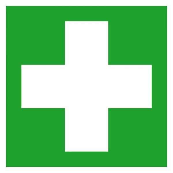 Erste-Hilfe-Schild: Erste Hilfe | Aufkleber | 15x15cm