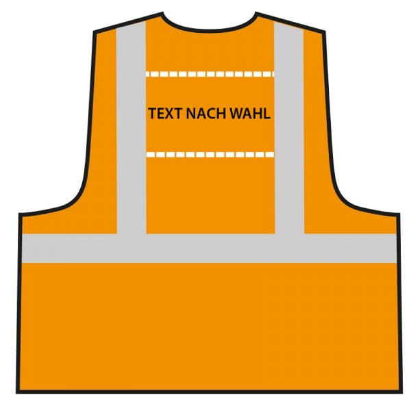 Multifunktionsweste Orange - individuell bedruckt