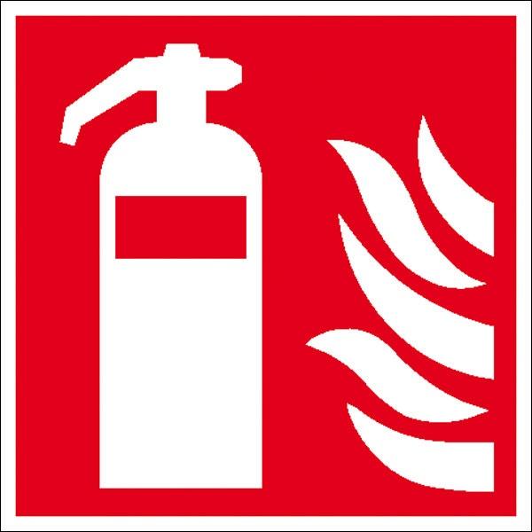 Brandschutzzeichen: Feuerlöscher | Aufkleber | 20x20cm