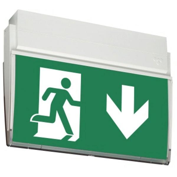 Rettungszeichenleuchte URKL Decken- oder Wandmontage