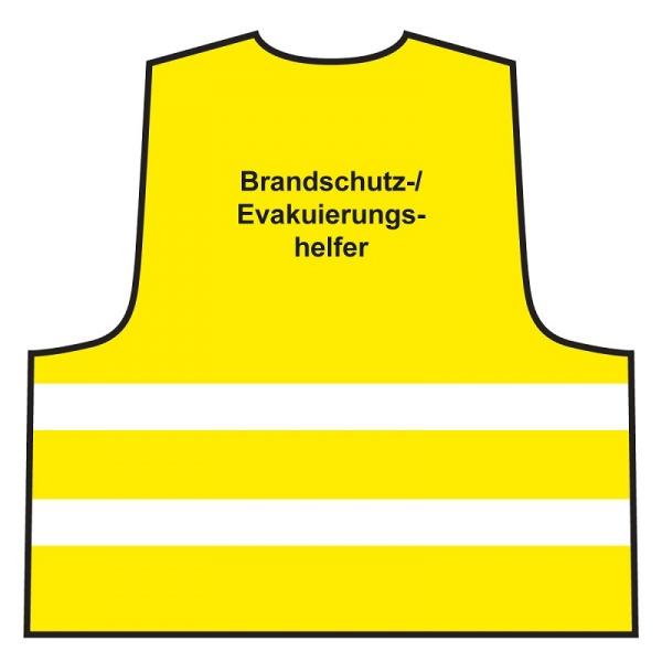 Warnweste - Brandschutz-/ Evakuierungshelfer | gelb