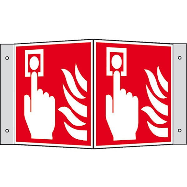 Brandschutzzeichen: Brandmelder | Kunststoff | 20x20cm