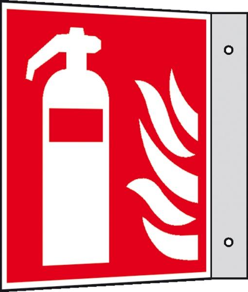 Brandschutzzeichen: Feuerlöscher | Aluminium | 10x10cm