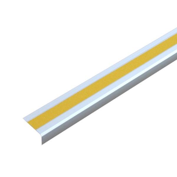"""Antirutsch-Treppenkantenprofil """"Easy Clean""""   schraubbar   gelb"""