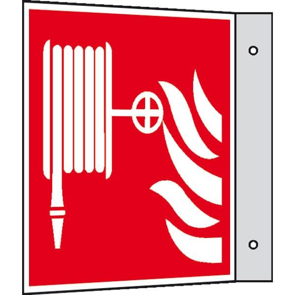 Brandschutzzeichen: Löschschlauch | Aluminium | 20x20cm