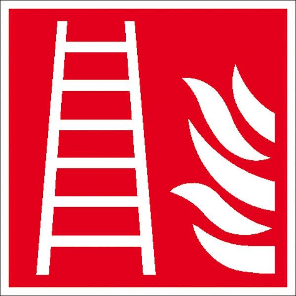 Brandschutzzeichen: Feuerleiter | Aufkleber | 20x20cm