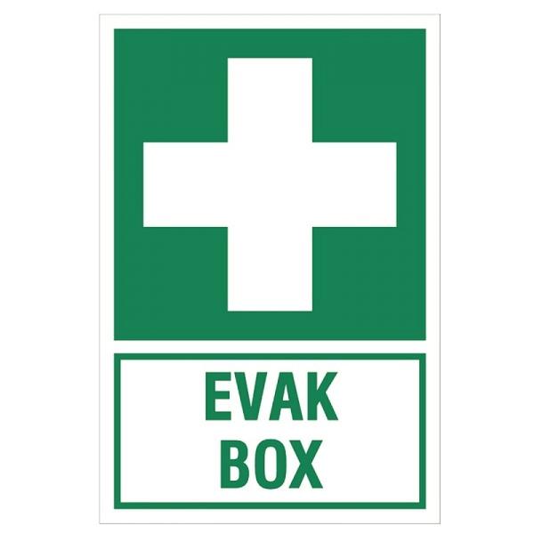 Erste-Hilfe-Schild: EVAK BOX | Aluminium | 20x30cm
