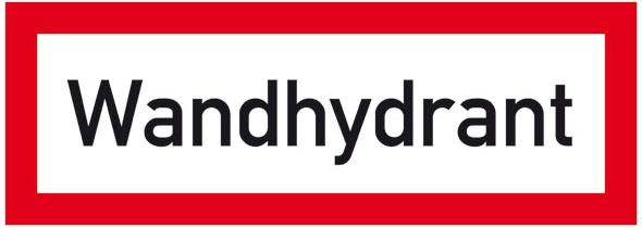 Hinweisschild für die Feuerwehr: Wandhydrant | Aufkleber | 29,7x10,5cm
