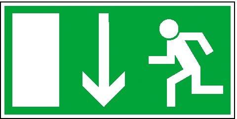 Rettungszeichen: Notausgang | Aufkleber | 30x15cm