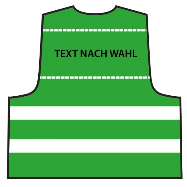 Warnweste Grün - individuell bedruckt