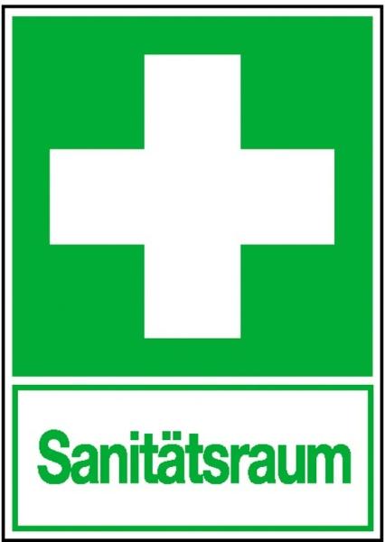 Erste-Hilfe-Schild: Sanitätsraum | Aufkleber | 20x30cm