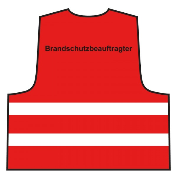 Warnweste - Brandschutzbeauftragter | rot