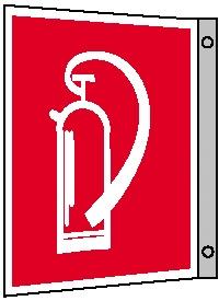 Brandschutzzeichen - Fahnenschild - langnachleuchtend