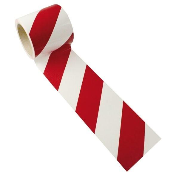 Warnmarkierung   rot-weiß   linksweisend   10cm breit