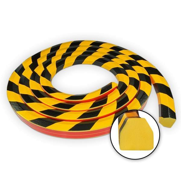 Knuffi SHG Warn- und Schutzprofil | Typ CC | gelb/schwarz | 5m Rolle