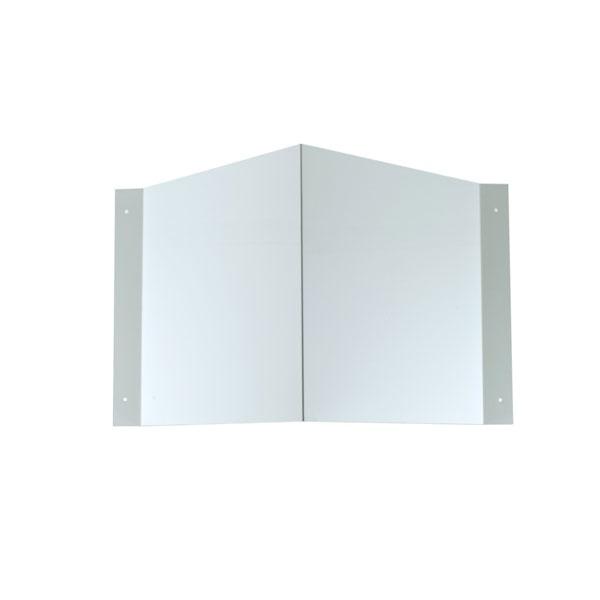 Schilderträger Winkel blanko 20x20 cm