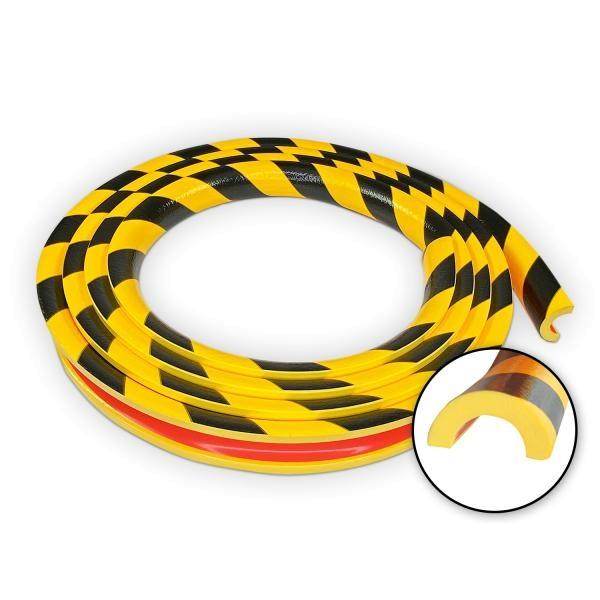 Knuffi SHG Warn- und Schutzprofil   Typ R30   gelb/schwarz   5m Rolle