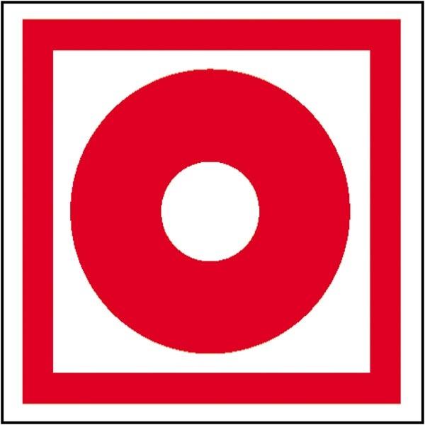 Brandschutzzeichen: Brandmelder (manuell) | Aufkleber | 15x15cm