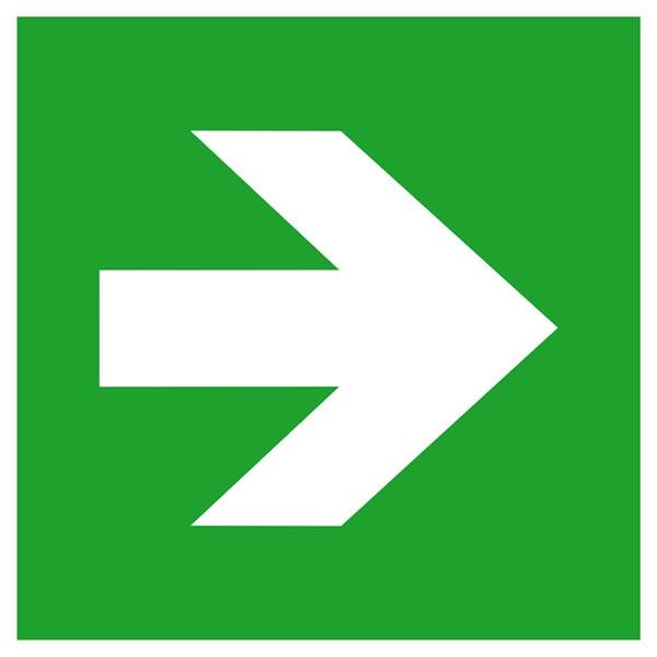 Zusatzschild: Richtungspfeil gerade | Kunststoff | 20x20cm