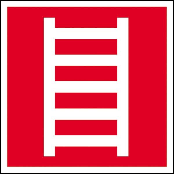 Brandschutzzeichen: Leiter   Aufkleber   15x15cm