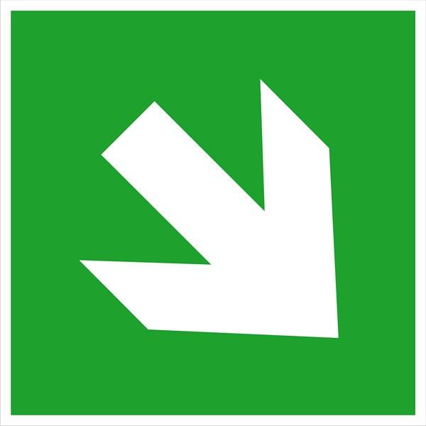 Zusatzschild: Richtungspfeil schräg   Kunststoff   15x15cm
