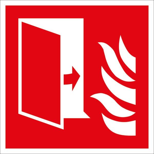 Brandschutzzeichen: Brandschutztür | Aufkleber | 10x10cm
