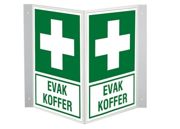 Erste-Hilfe-Schild: EVAK KOFFER | Aluminium | 20x30cm