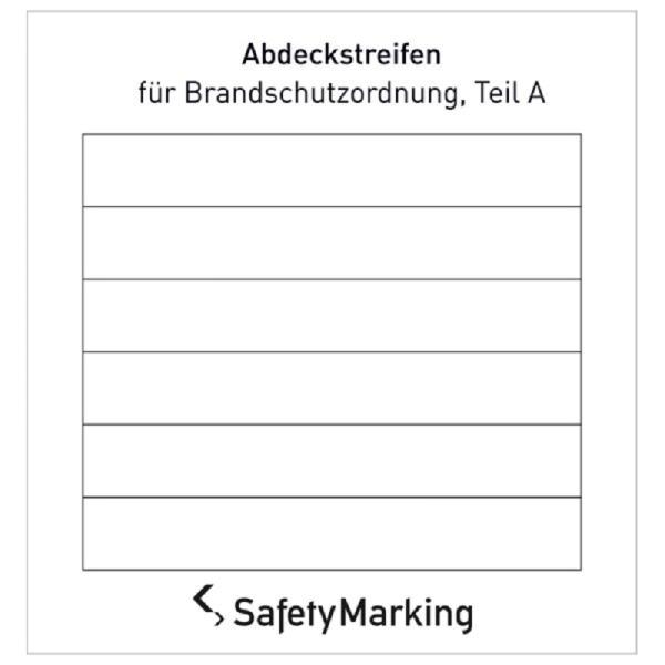 Abdeckstreifen für Brandschutzordnung, Teil A | Aufkleber | 8,9x1,3cm