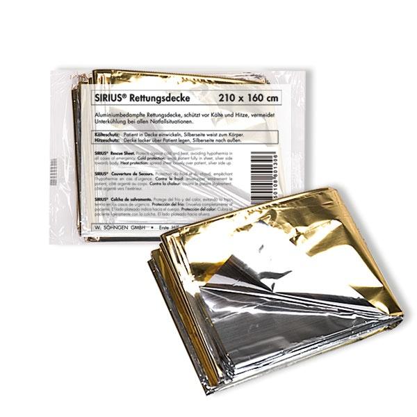 SIRIUS® Rettungsdecke gold/silber