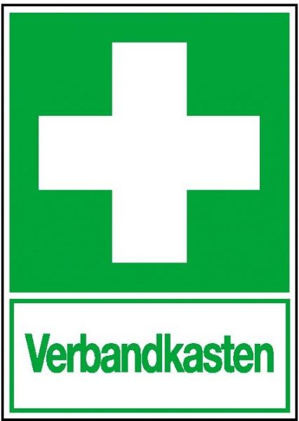 Erste-Hilfe-Schild: Verbandkasten | Aufkleber | 5x7,5cm