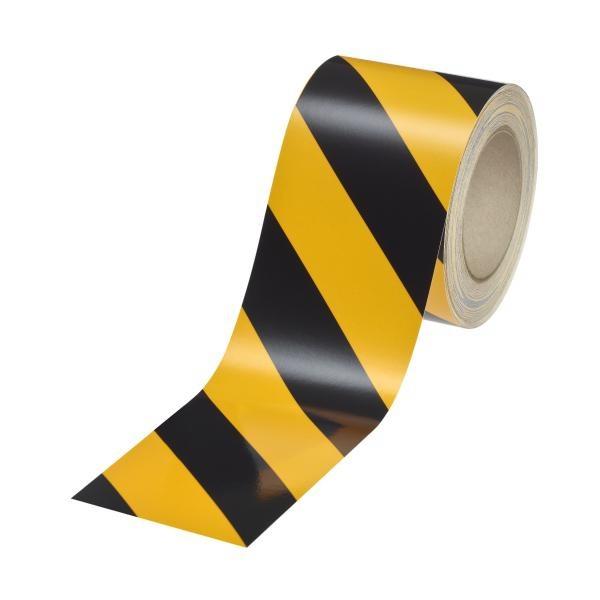 Industrie-Warnmarkierung | gelb-schwarz | rechtsweisend | reflektierend