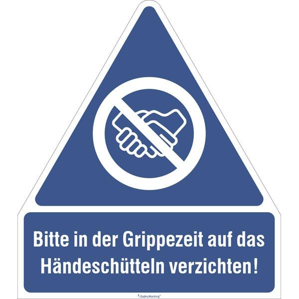Gebotsschild | Händeschütteln vermeiden | Aufkleber