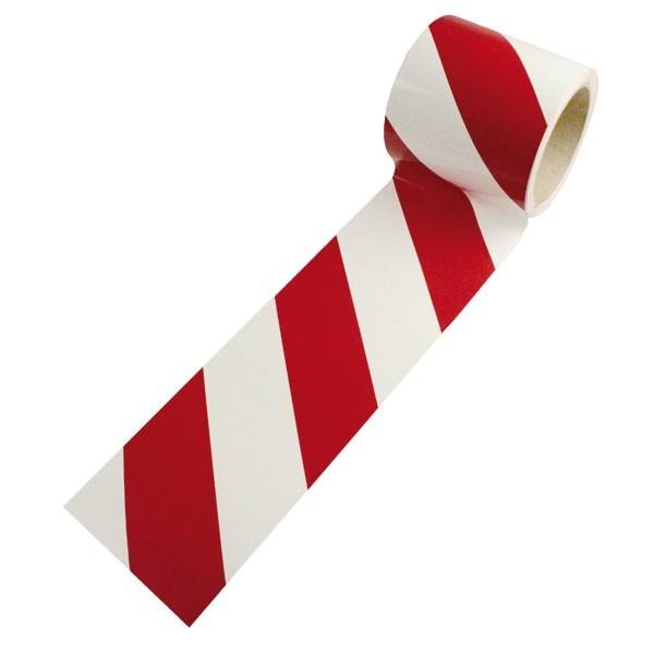 Warnmarkierung | rot-weiß | rechtsweisend | 7,5cm breit