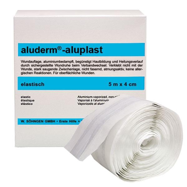 Söhngen aluderm-aluplast | Wundverbandpflaster-Rolle | 4 cm