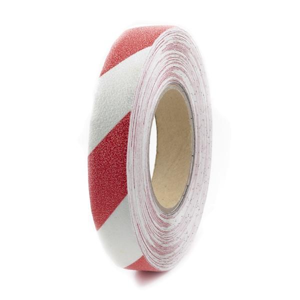 m2-Antirutschbelag™ | Rolle rot/weiß | 2,5 cm breit